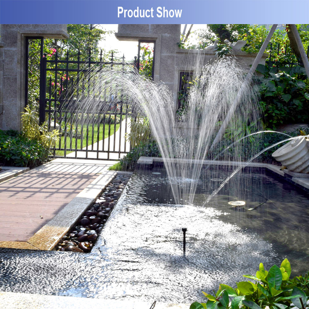 Solar Powered Garden Floating Water Pump Fountain Pond